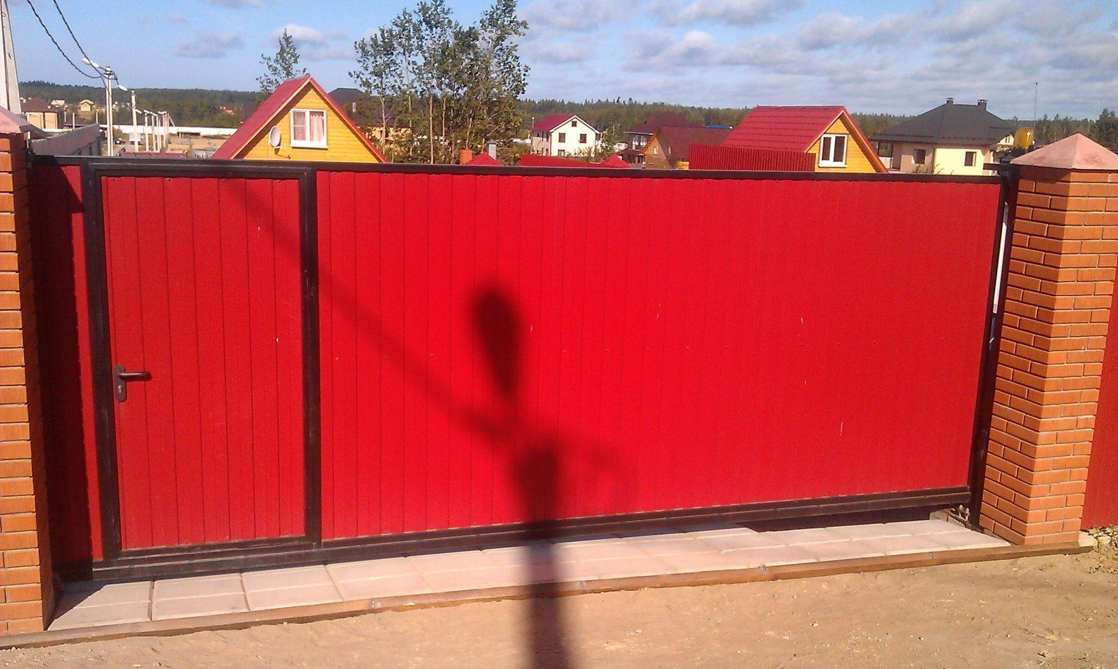 Ворота из профлиста своими руками расчеты, схема 67